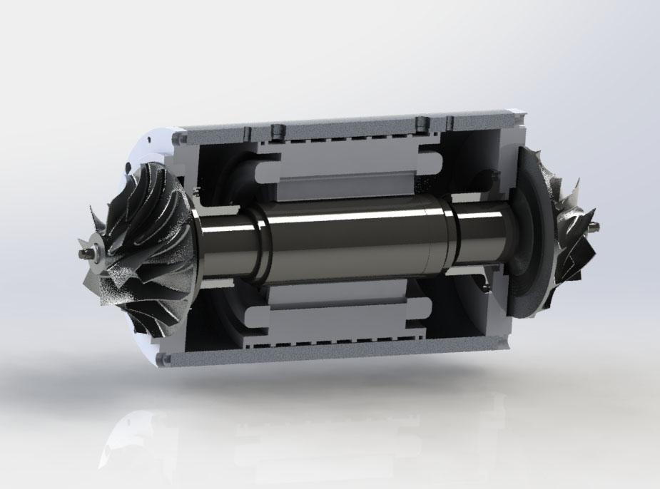 150kW blower core, 25,000rpm