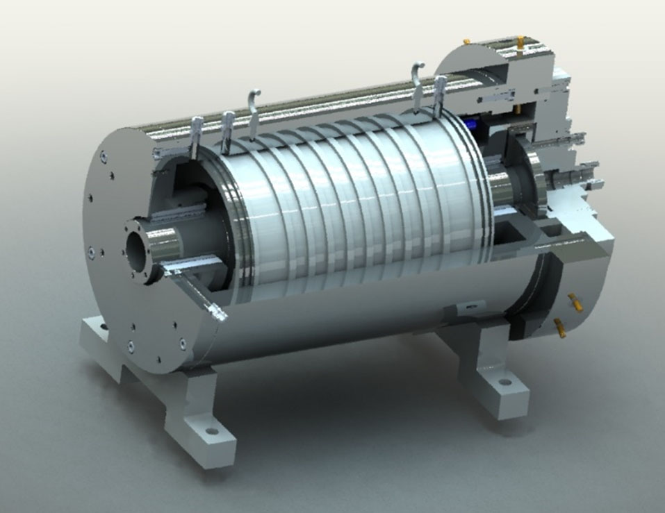 350kW, 4 pole  permanent magnet,<br>22~25krpm, hybrid foil bearings