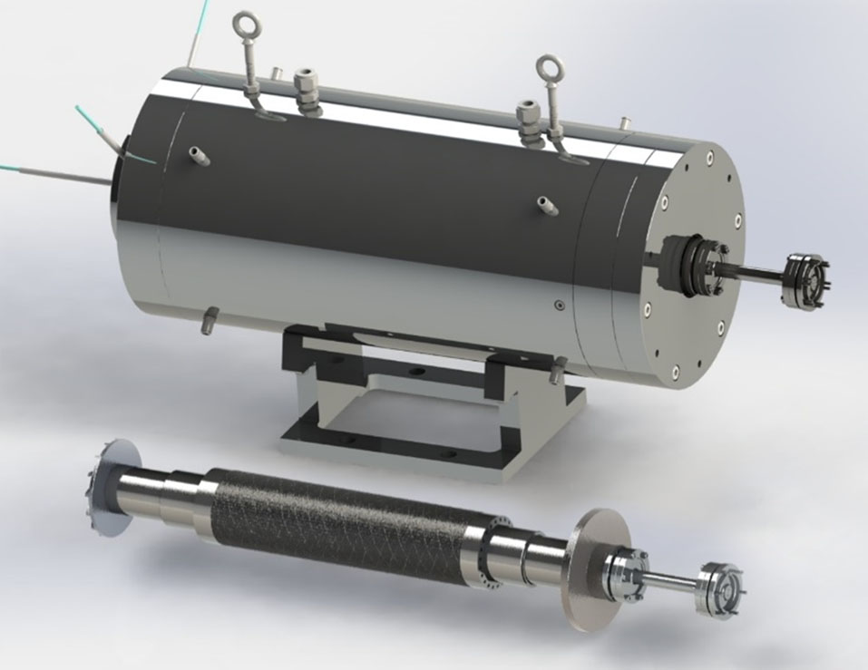 350kW/75krpm with custom-designed diaphragm<br>coupling and hydrodynamic foil bearings